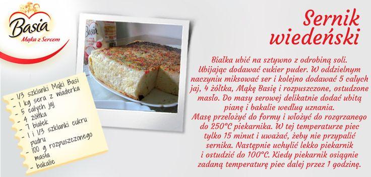 Sernik wiedeński. www.mojabasia.pl/przepisy.html