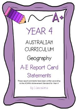 * Now UPDATED to align with V8.1 of the Australian Curriculum*Report card writing has never been easier! Save time and be confident that your comments are well written and designed to align to the Australian Curriculum Achievement Standards. This file contains 50 A - E report card comments for Year 4 Geography.Suitable for all states and territories, my comments are currently being used in over 600 Queensland schools.Available in Word format for easy cutting and pasting into documents.Find…
