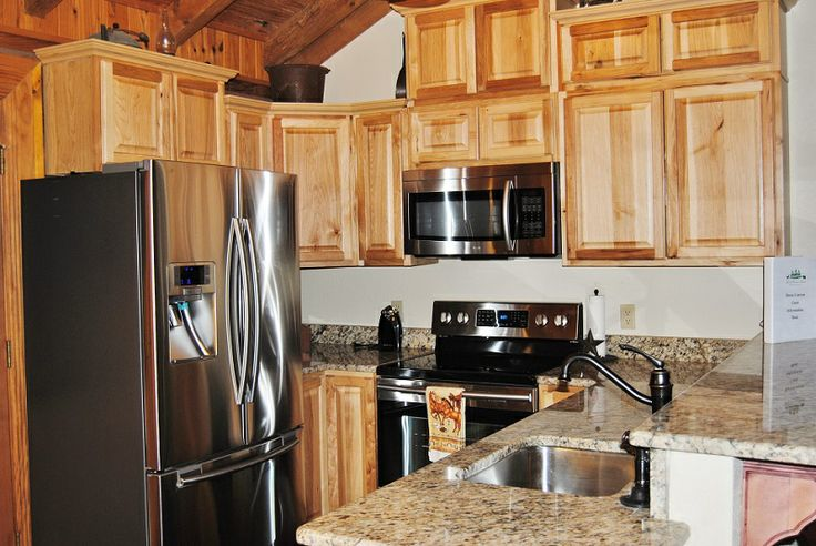 AFTER!--Hickory Cabinets, Stainless Steel Appliances