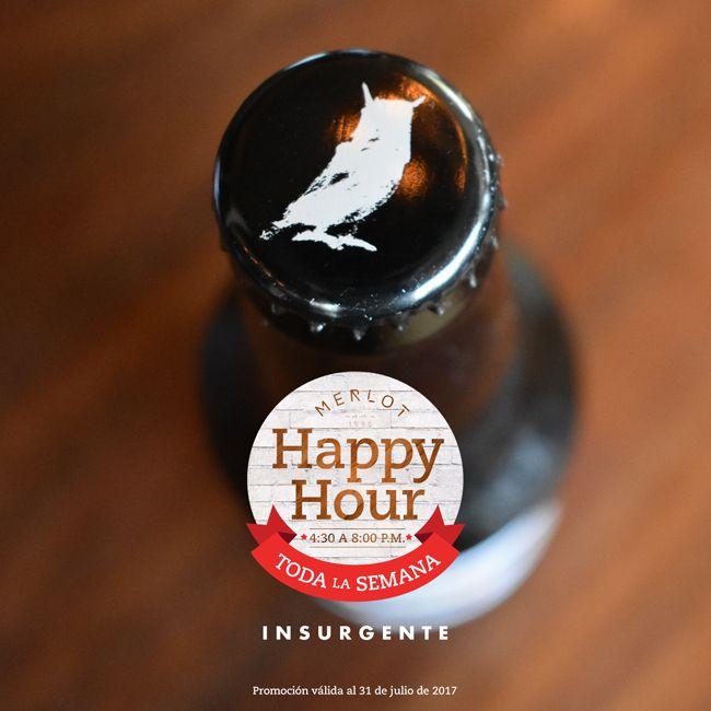 ¡Cerveza Insurgente de venta en #MerlotBistro! #HappyHour #Beer #CraftBeer #Cerveza #CervezaArtesanal