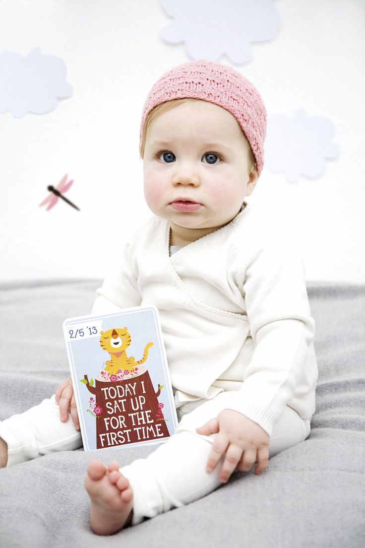 Today I sat up for the first time. MILESTONE Baby Cards. Set of 30 cards to capture your baby's first year in weeks, months and big events. www.milestonecards.com