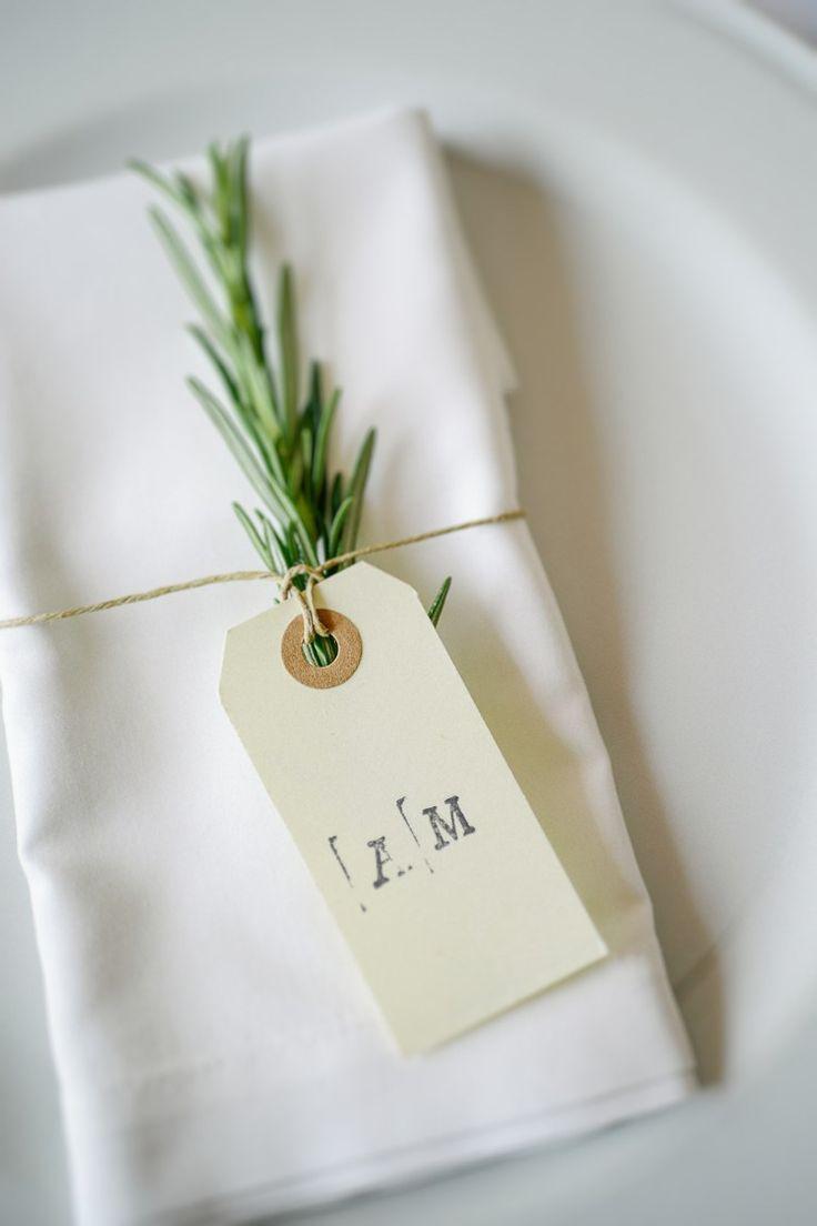 Rosemary Luggage Tag Place Setting Decor Name Intimate Italian Rose Garden Wedding http://landvphotography.it/
