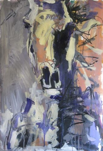 Abstract Horse Portrait, painting by artist Robert Joyner