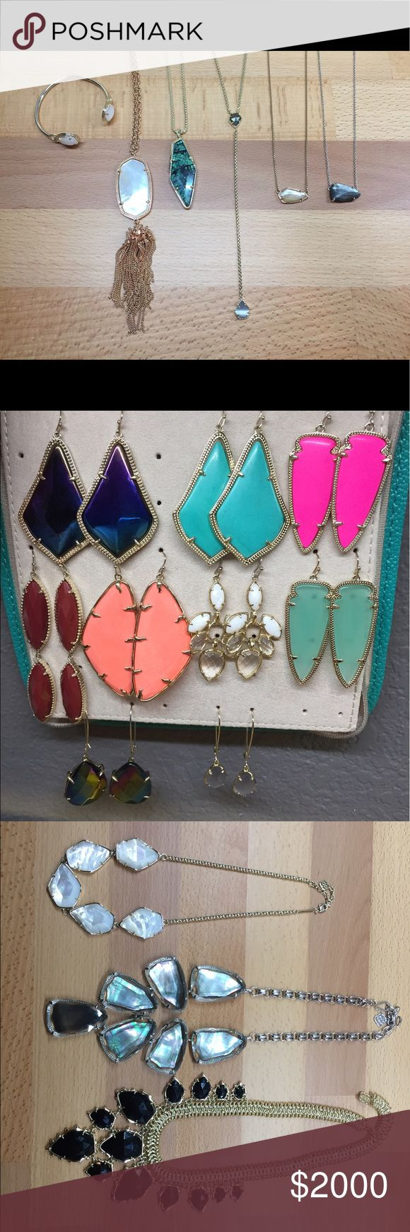 Not for Sale! My Kendra Scott collection thus far. Just displaying some of the Kendra Scott items I've collected so far. Some are for sale or have been sold. Check the other listings to see what's available for sale. Kendra Scott Jewelry Earrings
