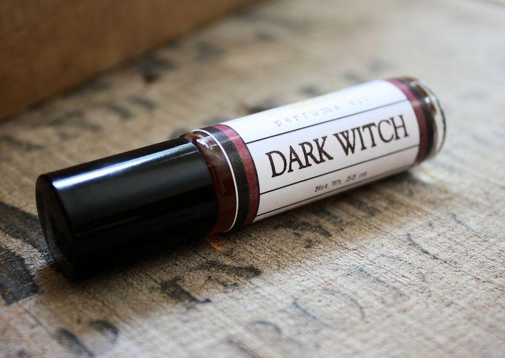 A touch of Halloween for those who don't want to wear a costume: Dark Witch Perfume Oil Coconut Hemp Roll On.