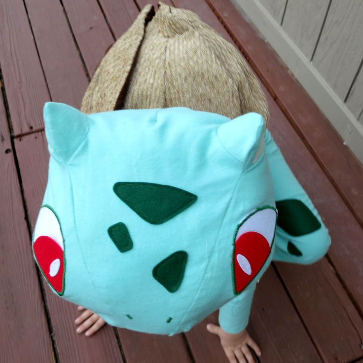 Inspiration for Bulbasaur Costume. My son is obsessed with Pokemon.