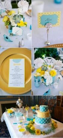 Jaune tournesol Palettes de couleurs de mariage