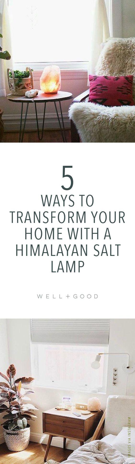 Benefits of a salt lamp .