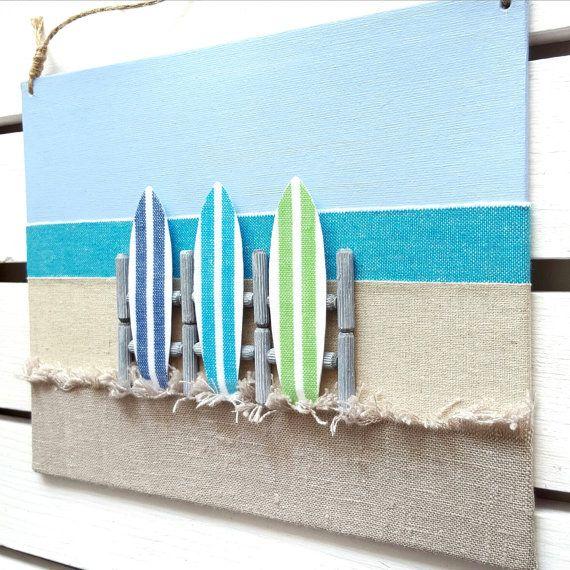 Dieses Gewebe 3D Surfbrett-Zeichen ist ein wirklich einzigartiges Kunstwerk, und es ist die perfekte Ergänzung zu jedem Strand Haus innen, Kinderzimmer, Sommer Heim, nautische Einrichtung, oder als ein wunderbares Geschenk für diesen Strand und Surf-Liebhaber!  Jede meiner Strand Dekor Wandbehänge sind von mir handgefertigt und kundenspezifisch konfektioniert. Dieser eine kommt mit Ihrer Wahl von 3 verschiedenen farbigen Surfbretter.  ✖ Bei Ihrer Bestellung geben Sie bitte im Feld Nachricht…
