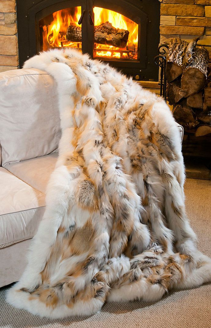 Sad. But beautiful.   Golden Island Fox Fur Blanket | Overland Sheepskin