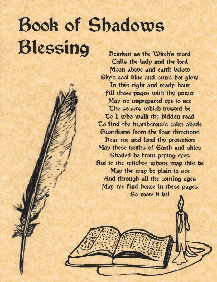 Book of Shadows Blessing, Book of Shadows Page, BOS Pages, Rare Wiccan Spell picclick.com: