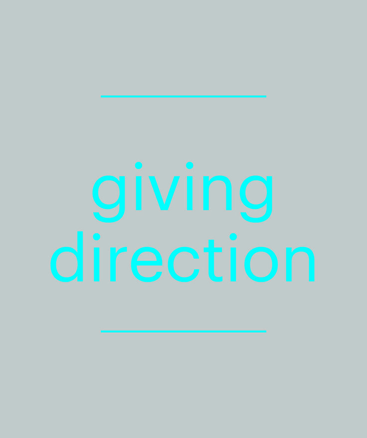 Assist your consumer by giving direction.
