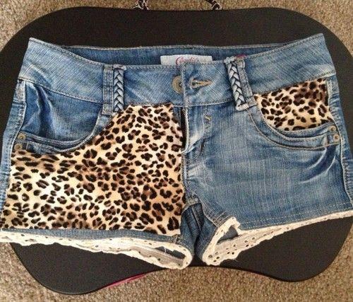 Cheetah Print Shorts. I would sooo wear these!