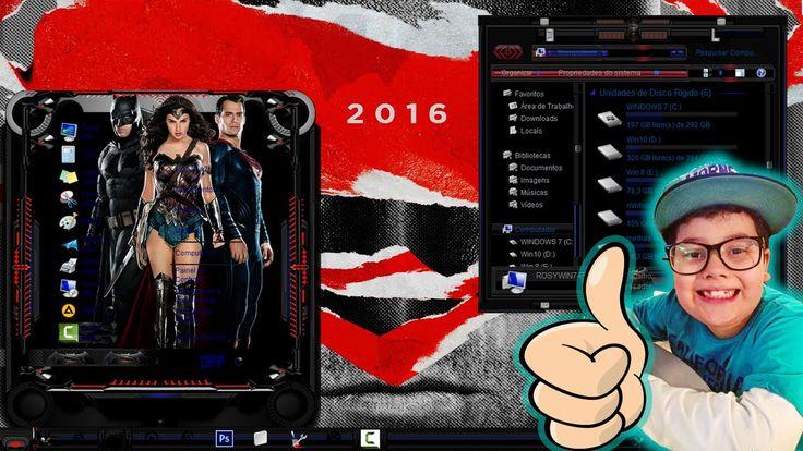 Tema Batman Vs Superman para Windows 7, 8 e W10