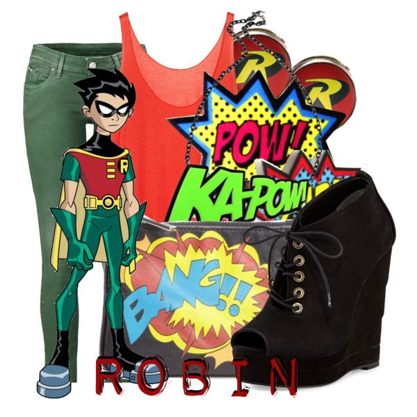 """""""Robin from Teen Titans"""" by infinity-starts-with-you on Polyvore"""