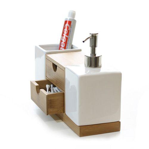 Men bathroom design - Izzy Multi Bamboo Bathroom Organiser Lifespace Australia