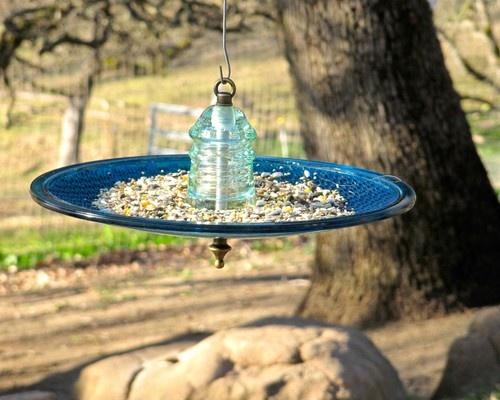 kitchen,Patio, Pool & Yard eclectic bird feeders