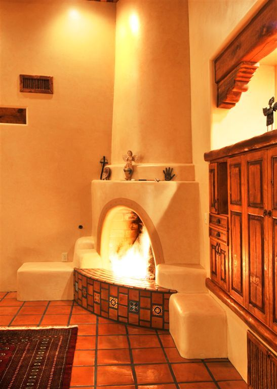 63 best kiva fireplaces images on pinterest haciendas for Fireplaces southwest