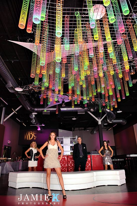 Slinky Ceiling ~ might be cool for VBS décor this year
