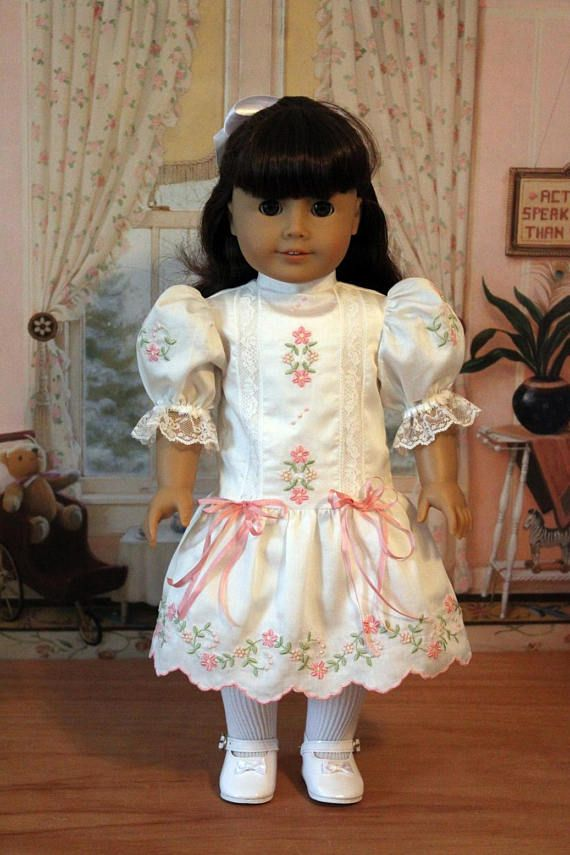Embroidered Heirloom Dress for Dolls like Nellie and Samantha, BabiesArtUs $75
