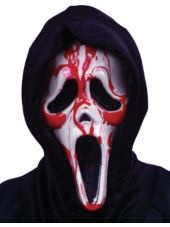 Dripping Blood Ghost Face Mask - Party City
