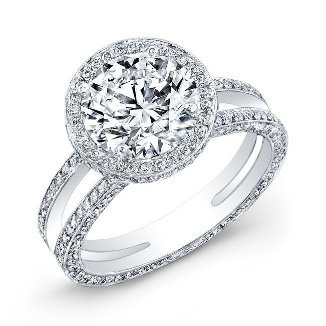 Round wedding rings wedding design ideas round wedding rings 18k white gold petite twisted vine diamond ring round halo diamond engagement ring junglespirit Choice Image