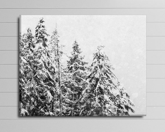Winter Canvas Ski Lodge Decor Skiing Canvas by PureNaturePhotos