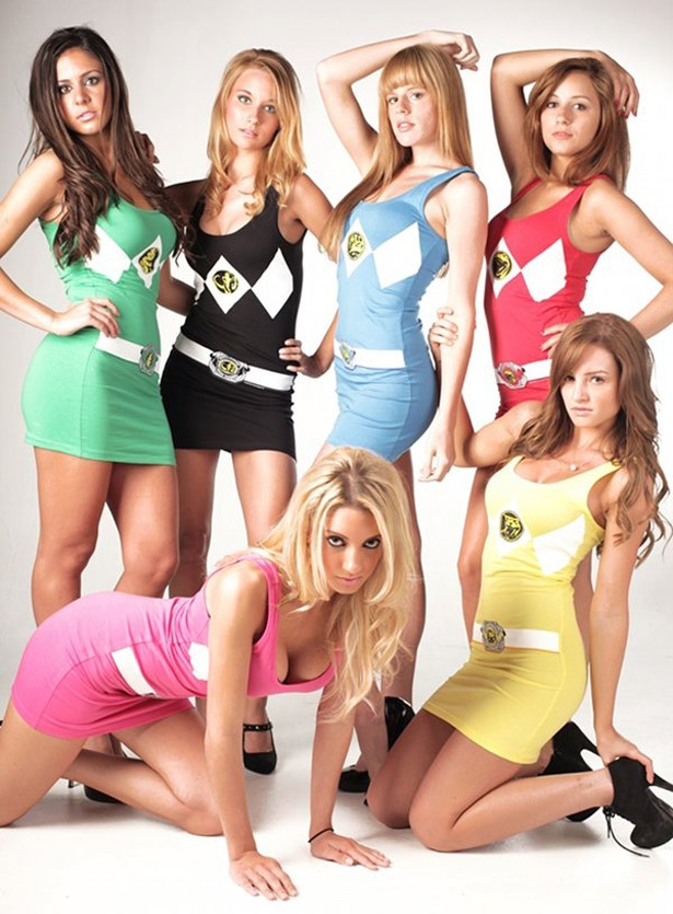 I like a sluty nerd costume every now and then but I doubt any of those girls actually watched Mighty Morphing Power Rangers...