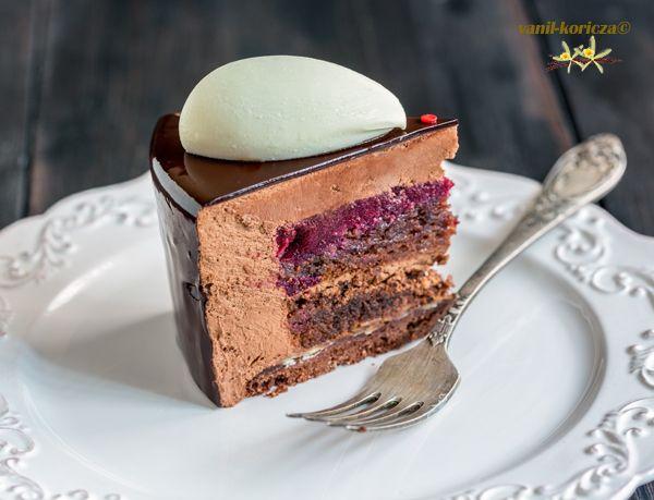 Торт «Все в шоколаде»,разрез