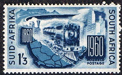 South Africa 1960 South African Railways Fine Mint SG 183 Scott 240 Train Other South Africa Stamps HERE