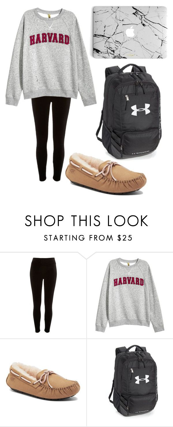 """""""study date at starbucks outfit"""" by fashionblogger2122 on Polyvore featuring River Island, UGG Australia and Under Armour"""