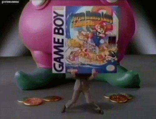 Nintendo gameboy Super Mario Land  + Shrunken tiny man.