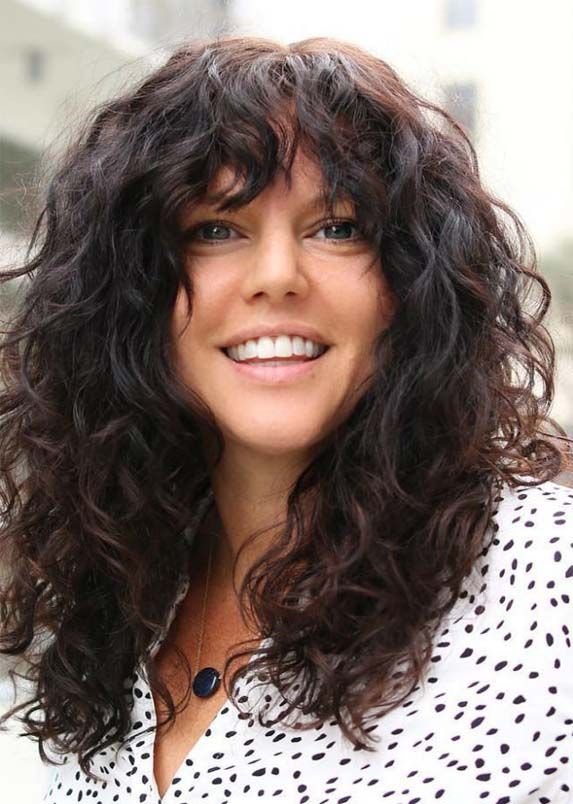 Amazing Thick Curly Haircuts With Bangs For Women 2019 Absurd Styles Long Hair Styles Long Layered Curly Haircuts Haircuts For Curly Hair