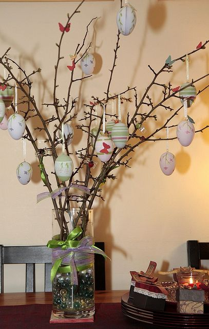 Ostara Tree- this is a good idea be a nice altar piece for next year