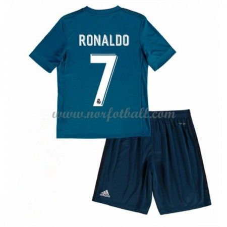 Billige Fotballdrakter Real Madrid Barn 2017-18 Cristiano Ronaldo 7 Tredje Draktsett Fotball Kortermet