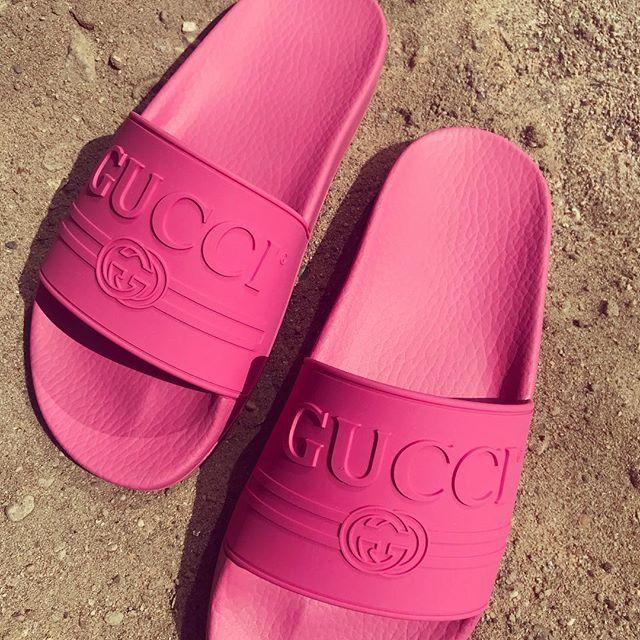 84ce5e974 Gucci Slides Women, Women Slides, Neon Pink Vans, Gucci Shoes, Vans Shoes