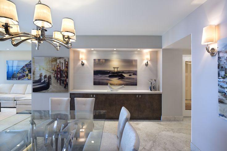 Designer: Sarah Zohar, Photo Credit: Paul Stoppi, The grand room at the Ocean Palms condominium in Hollywood, FL