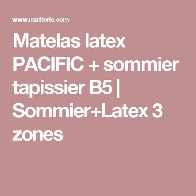 Matelas latex PACIFIC + sommier tapissier B5 | Sommier+Latex 3 zones