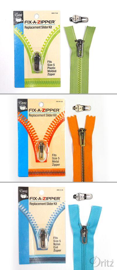 Tutorial: How to Fix a Broken Zipper Slider using Dritz Fix-A-Zipper Replacement Zipper Slider Kit