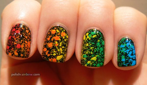 Rainbow nails?! No way!!