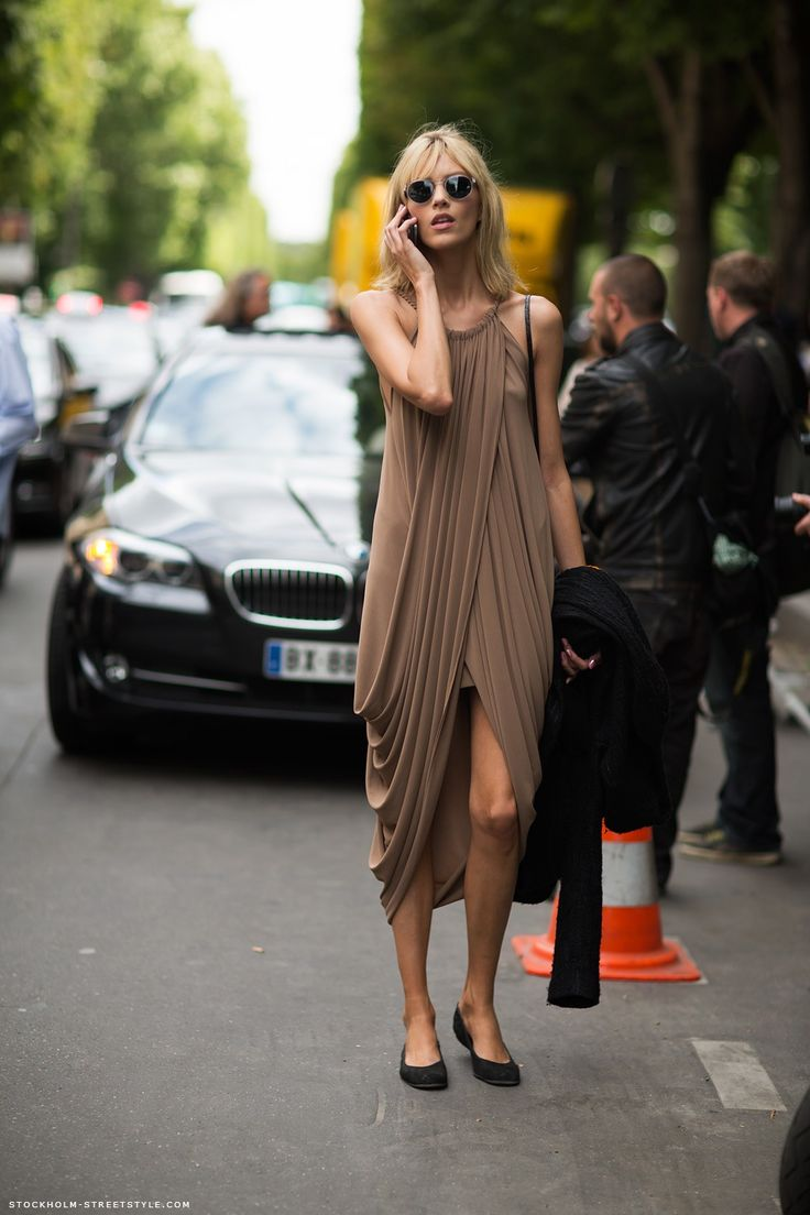 draped / Anja Rubik: Anjarubik, Anja Rubik, Summer Dresses, Draping Dresses, Clothing, Summer Style, Street Style, Stockholm Streetstyl, Caroline Mode