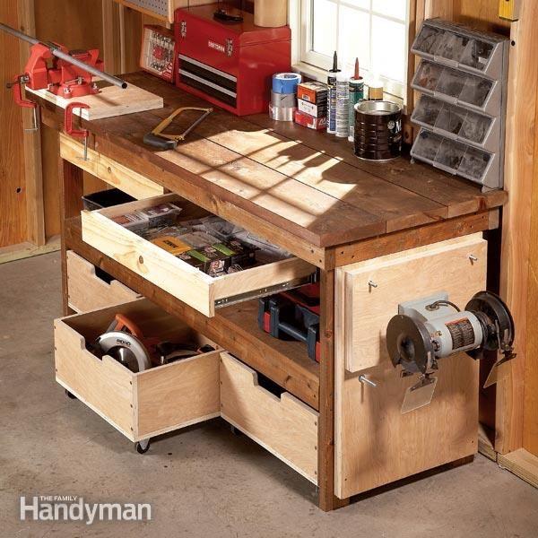 Workbench Design Ideas diy garage workbench ideas 25 Best Ideas About Diy Workbench On Pinterest Garage Ideas Garage Solutions And Small Garage Organization