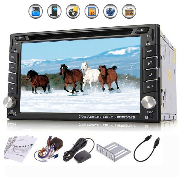 """Universal 2 Din 6.2"""" In Dash Car DVD Player GPS/ Radio/FM/USB/SD/Bluetooth/ HD Digital Touch Screen Full Popular Function Free US $136.70 - http://btspeakers.space/universal-2-din-6-2-in-dash-car-dvd-player-gps-radiofmusbsdbluetooth-hd-digital-touch-screen-full-popular-function-free-us-136-70/"""