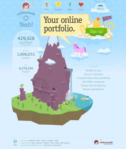 Awesome example of illustration in web design