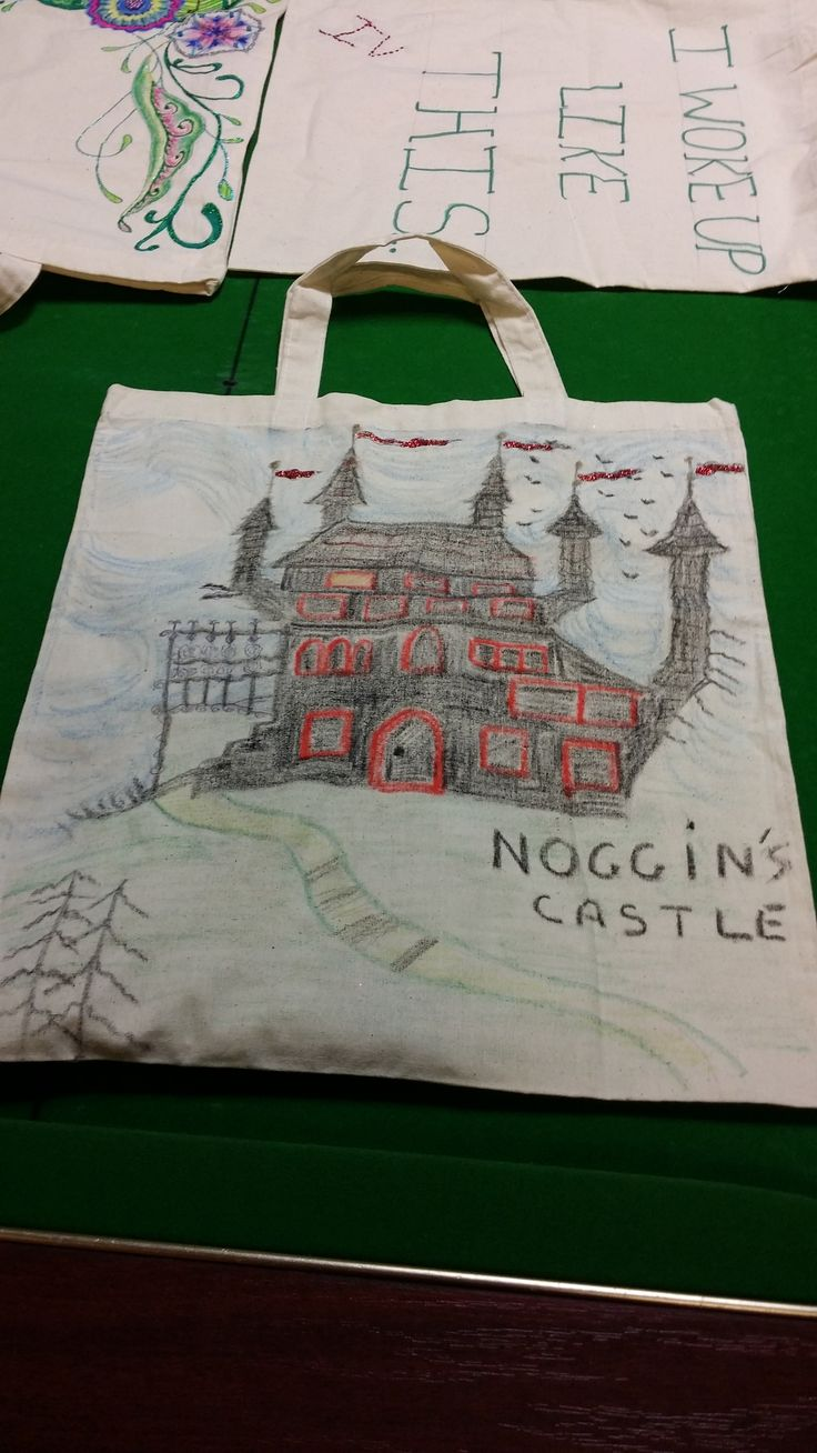 This fantastical design was created by one of our clinical trials volunteers. It carried on to the other side of the shopping bag, too!
