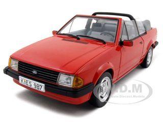 1984 Ford Escort Mk3 GL Cabrio Red 1/18