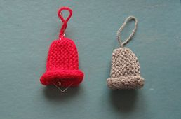 17 best images about knitting christmas on pinterest for Knitted christmas bells