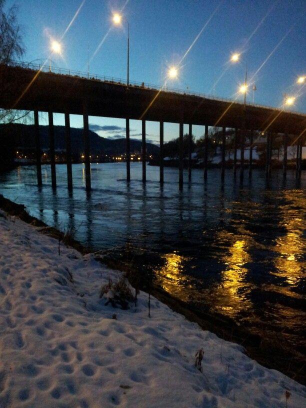 Nidelva, Elgeseter bridge, Trondheim,  Norway