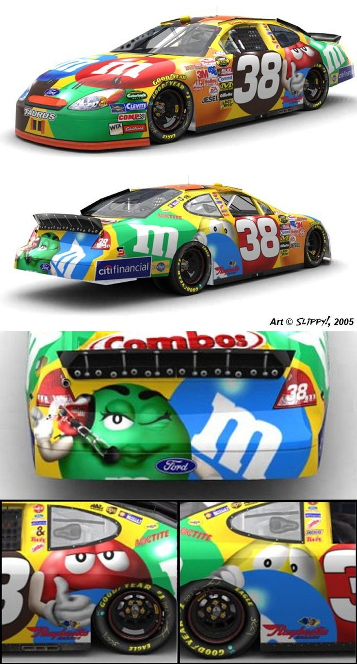 Paint schemes coca cola 600 free download image about all car type - Elliott Sadler S 2005 M S Paint Scheme As Recreated For The Nascar Racing Series Of Computer Games