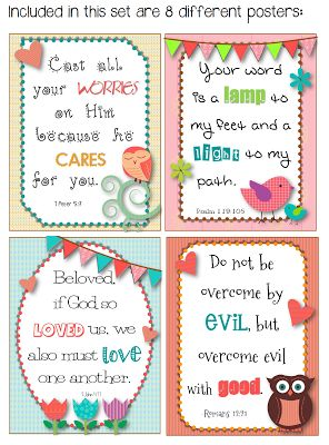 Facing the Frenzy: Bible Verse posters